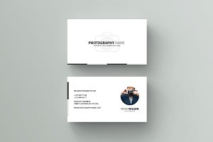 Wanderers business card template business card templates photography business card template wajeb Image collections