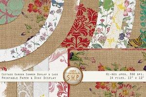 Summer Cottage Burlap & Lace Paper