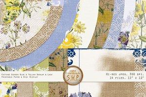 Summer Cottage Burlap & Lace 2 Paper