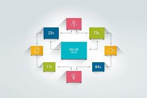 Flowchart infographic scheme
