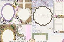 Cottage Garden Burlap & Lace Cards