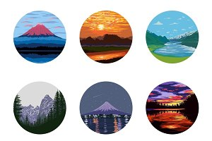 Nature Vector Icons Set