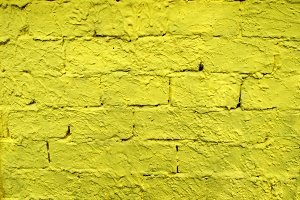 Brick Wall Colored In Yellow