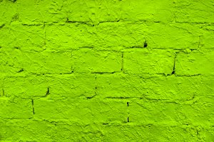 Brick Wall Colored In Fluo Green