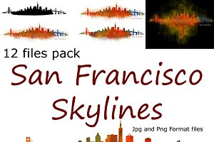 12xFiles Pack San Francisco Skylines