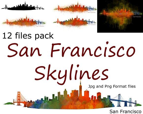 12xFiles Pack San Francisco Skylines
