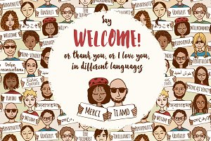 Welcome - Thank you - I love you