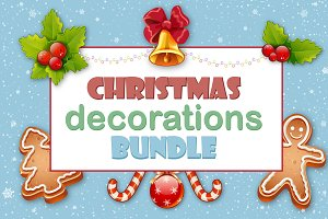 Christmas decorations bundle