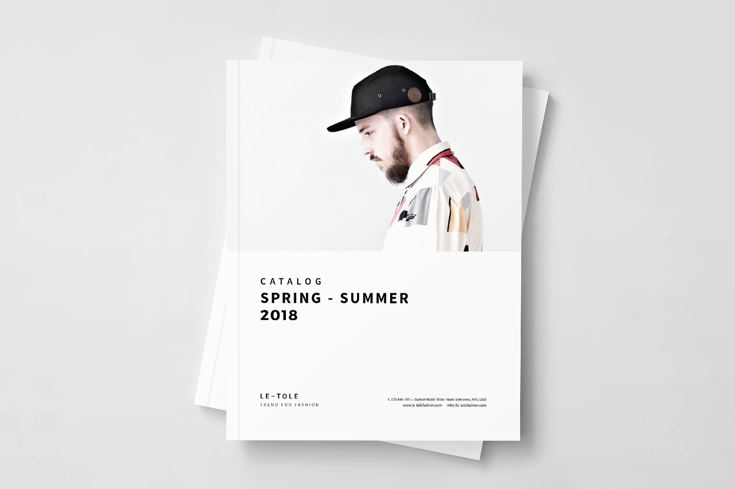 fashion catalog brochure templates creative market