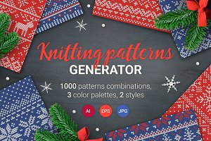 1000 Knitting Patterns Generator
