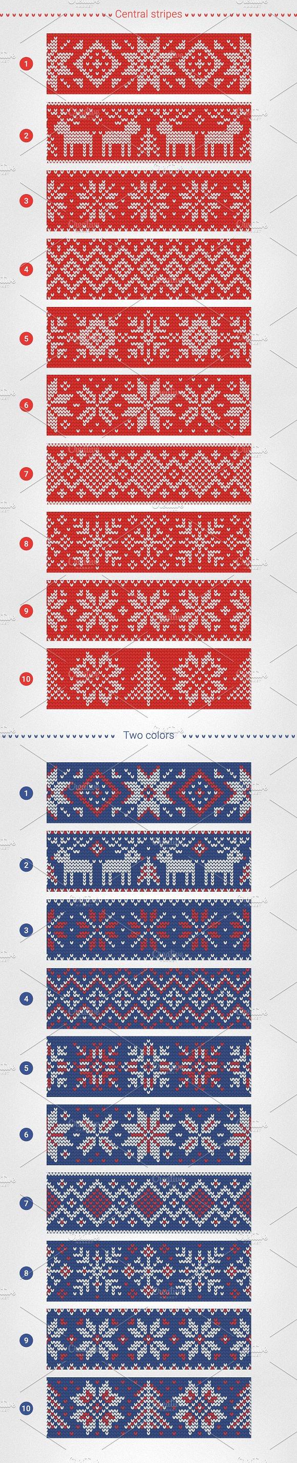 1000 Knitting Patterns Generator ~ Graphic Patterns ~ Creative Market