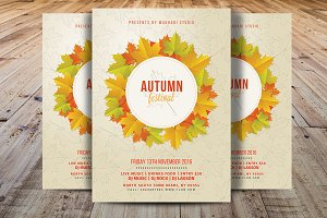 Autumn Festival Flyer Template V5