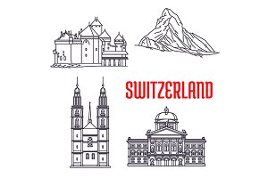 Hitoric landmarks of Switzerland