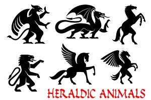 Heraldic animals icons