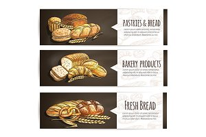 Bakery and pastry banners