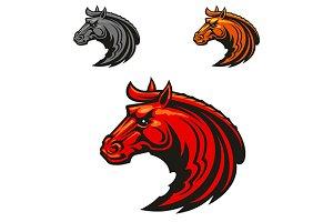 Horse stallion head mascot