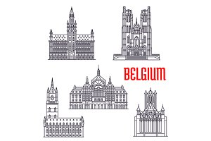 Famous historic buildings of Belgium