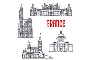 Architecture buildings of France