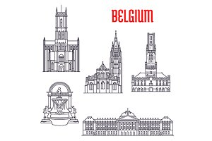 Historic landmarks of Belgium