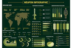 Military weapon infographics