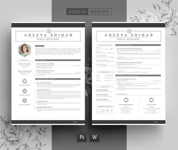 modern resume template shihab resumes