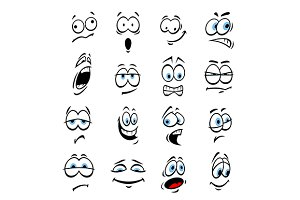 Cartoon eyes with face expressions