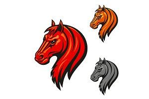 Horse head mascot