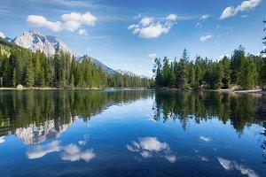 Cloud Reflection Mountain Lake