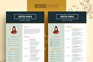 Professional Resume Template Rania