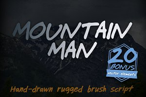 Mountain Man Brush Script