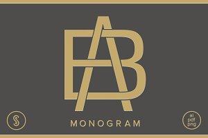 AB Monogram BA Monogram