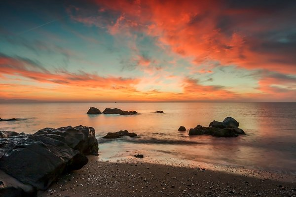 Sunset mediterranean sea