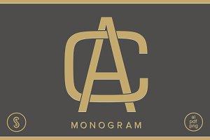 AC Monogram CA Monogram