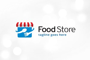 Food Store Shop Logo Template