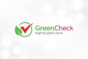 Green Check Logo Template