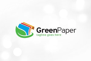Green Paper Logo Template