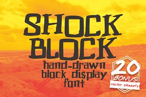 Shock Block Hand Drawn Display Font