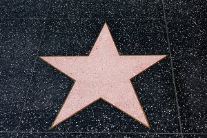 Hollywood Empty Blank Star