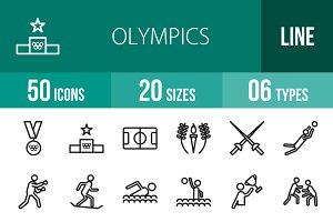 50 Olympics Line Icons