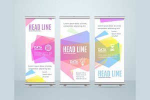 Banner Template with Bubble Speech.