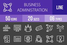 50 Business Admin Line Inverted Icon
