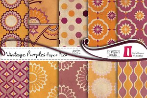 Vintage Purples Digital Papers