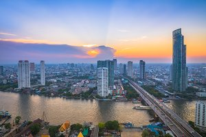 Landscape of river in Bangkok
