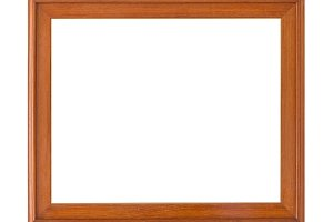 wooden frame vintage Isolated