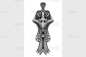 Zentangle Inspired stylized Cock