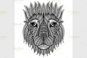 Doodle Lion head
