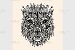 Zentangle Inspired tiger vector