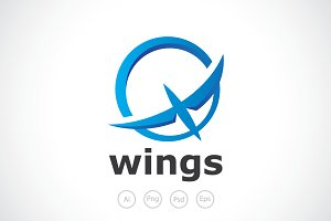 Sky Wing Logo Template