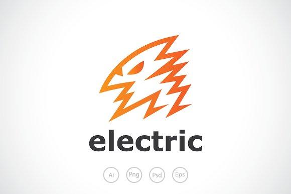 lightning bird logo template logo templates creative market