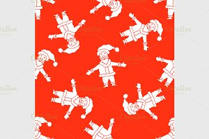 Christmas pattern with Santa Claus